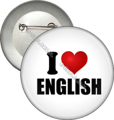 "Przypinka ""I LOVE ENGLISH"""