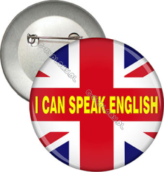 "Przypinka ""I CAN SPEAK ENGLISH"""